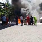 Motor Terbakar di Pom Bensin Pamulang Tangsel Akibat Tidak Pakai Kunci Kontak