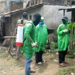 Secara Bertahap, DPC PKB Kabupaten Serang Semprot Disinfektan