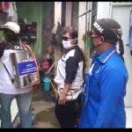 DPD BMI Banten dan Ormas DPD Forkabi Tangsel Lakukan Penyemprotan Disinfektan dan Berikan Bantuan Sembako