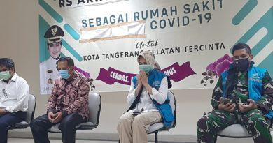 Airin Resmikan  Rumah Sakit Rujukan Covid Aria Sentra Medika