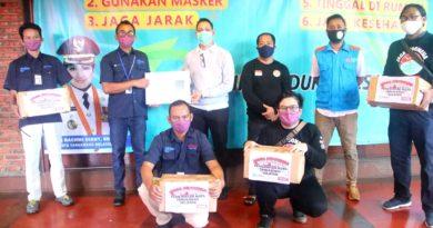 Tangsel Terima 2.000 Masker Non Medis dari Tribunnews dan Cardinal