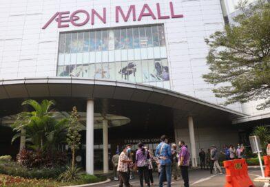 Dua Karyawan AEON Mall Positif Covid-19, Pemkab Tangerang Lakukan Penyemprotan Disinfektan dan Rapid Test